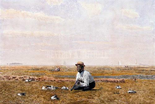 Whistling For Plover ByThomas Eakins