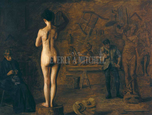 William Rush Carving His Allegorical Figure Of The Schuylkill River ByThomas Eakins