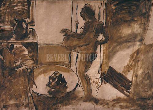 Woman Drying Herself Femme Au Tub By Degas Edgar
