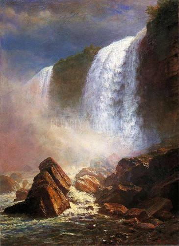 Falls Of Niagara From Below by Albert Bierstadt