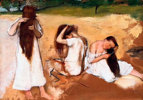 Women Combing Their Hair By  Degas Edgar