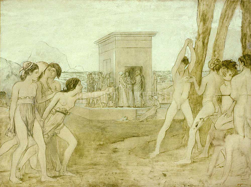 Young Spartans By Degas Edgar