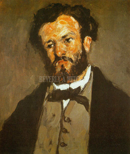 Portrait Of Anthony Valabregue By Paul Cezanne