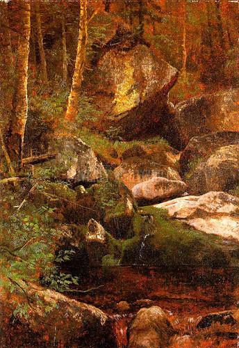 Forest Stream by Albert Bierstadt