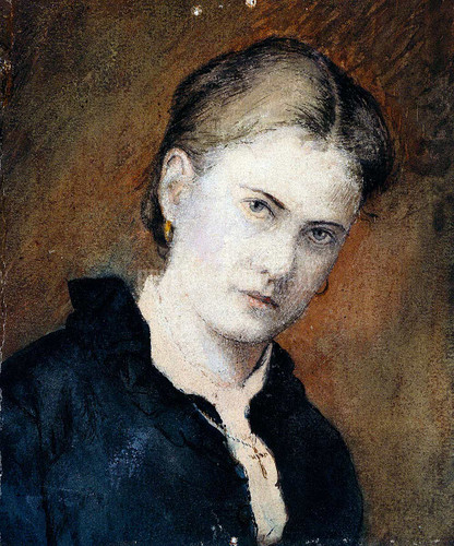Portrait Of The Artist S Wife By  Blakelock Ralph Albert