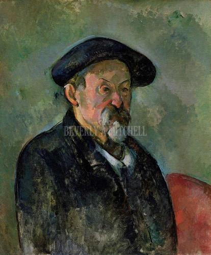 Self Portrait With Beret By Cezanne Paul