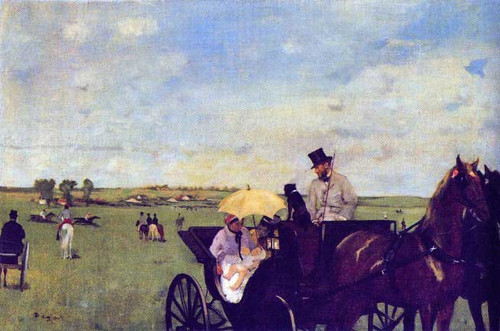 A Carriage At The Races 1869 1872 By Edgar Degas
