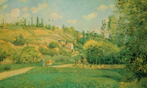 A Cowherd At Pontoise By Camille Pissarro