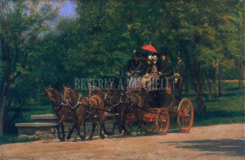 A May Morning In The Park Fairman Rogers Four In Hand ByThomas Eakins
