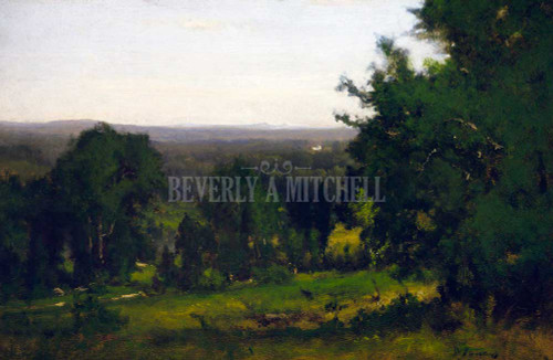 A New England Valley Landscape By George Inness