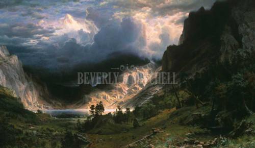 A Storm In The Rocky Mountains Mount Rosalie By Albert Bierstadt