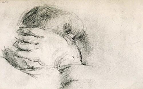 Artist S Son Hand Behind Head  By  Cezanne Paul