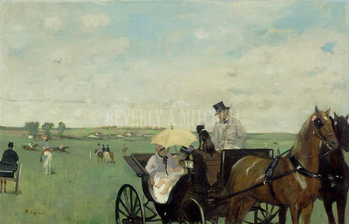 At The Races In The Countryside By  Degas Edgar