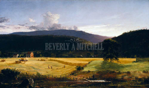 Bareford Mountains West Milford New Jersey By  Jasper Francis Cropsey