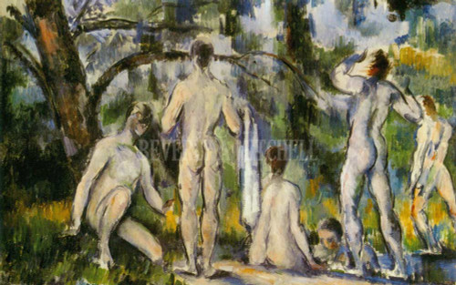 Bathers Study By Paul Cezanne