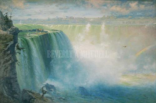 Blue Niagara By George Inness
