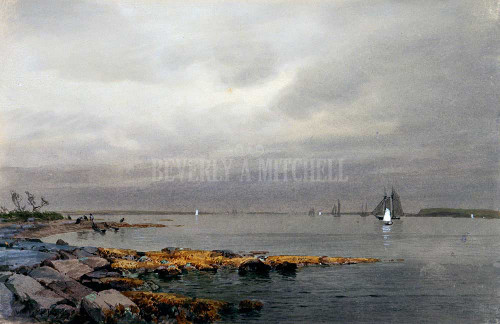 Calm Before A Storm Newport By  Richards William Trost
