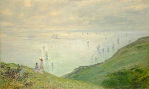 Cliffs At Pourville By Monet Claude