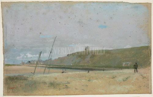 Cliffs On The Edge Of The Sea By  Degas Edgar