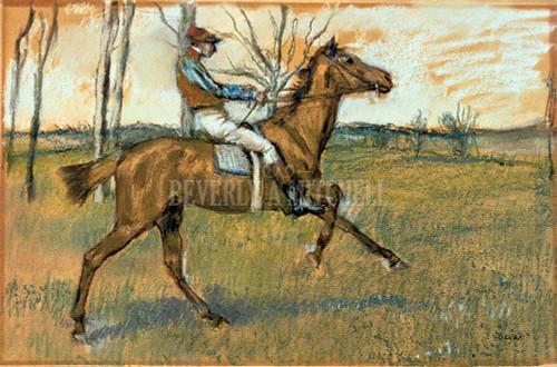 Jockey By  Degas Edgar