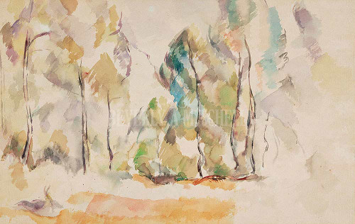 Landscape With Trees Rocks And Trees By Cezanne Paul