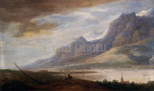 Mountainous Landscape With A River By Momper Frans De