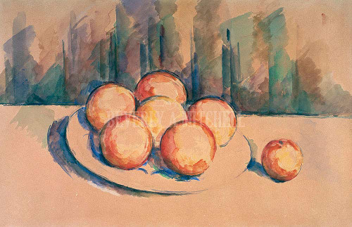 Oranges On A Plate By Cezanne Paul