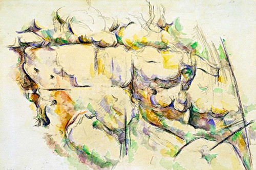 Rocks Near The Caves Above Chateau Noir By Cezanne Paul