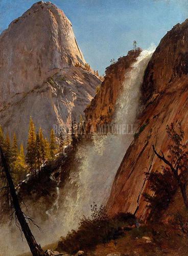Liberty Cap Yosemite by Albert Bierstadt