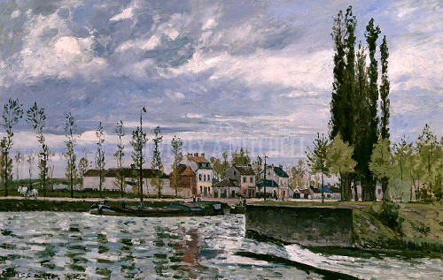 The Lock At Pontoise By Pissarro Camille