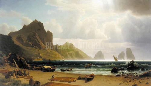 The Marina Picola By Albert Bierstadt