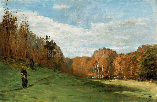 Woodgatherers At The Edge Of The Forest By Monet Claude