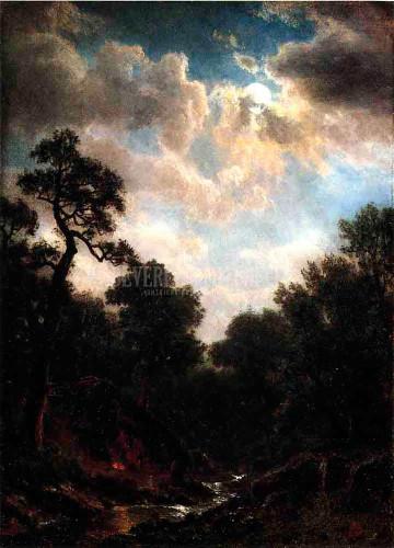 Moonlit Landscape by Albert Bierstadt