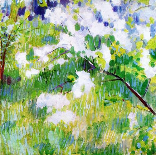 Flowering Cherry Trees By Viktor Elpidiforovich Borisov Musatov