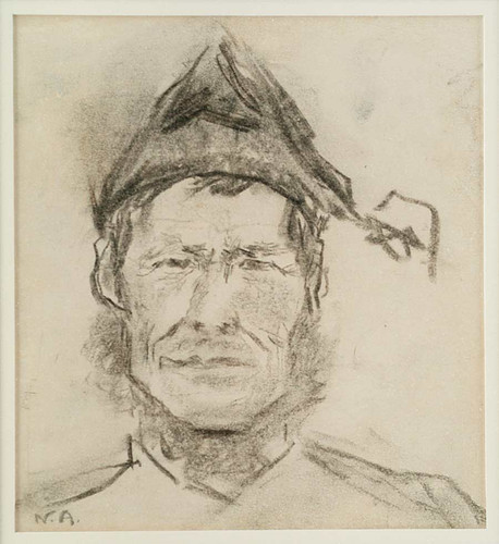 Man's Head With Cap By Nicolai Astrup