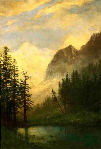 Mountain Landscape 1 by Albert Bierstadt