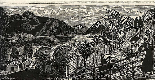 Sandalstrand With Woman By Nicolai Astrup
