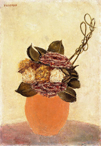 Still Life In Terra Cotta Vase By Arnold Friedman