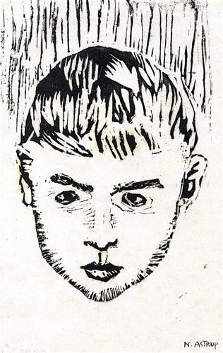 Boy's Head By 1 By Nicolai Astrup