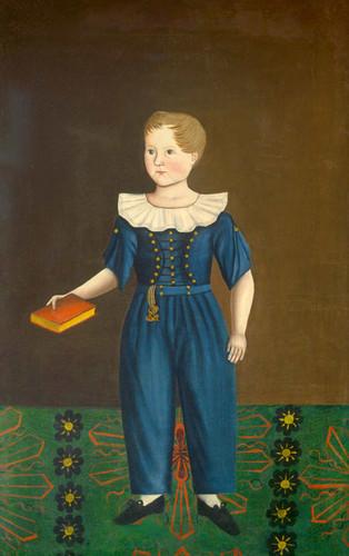 Boy In Blue By American 19th Century