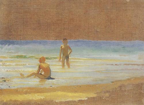Boys At The Beach By Nikolai Nikolaevich Ge
