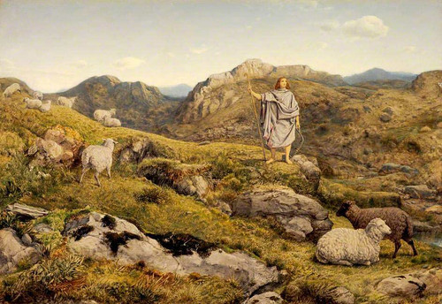 David In The Wilderness By William Dyce
