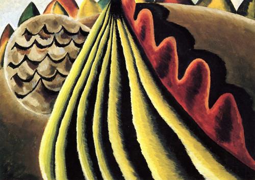 Fields Of Grain As Seen From Train By Arthur Dove