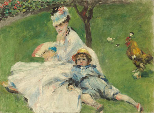 Madame Monet And Her Son By Auguste Renoir