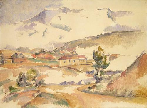 Montagne Sainte Victoire, From Near Gardanne By Paul Cezanne