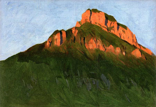 Mountain Painting By Hans Emmenegger