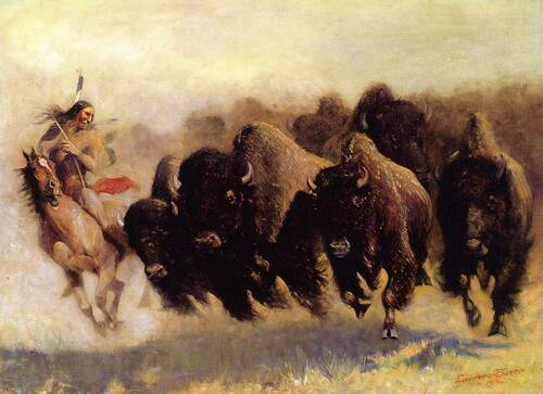 The Buffalo Hunt By Edward Borein