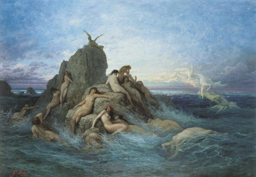 The Oceanides By Gustave Dore