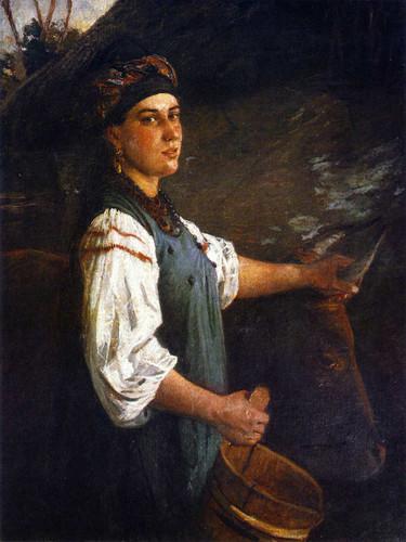 Agafiya Ignatievna Sliusareva By Nikolai Nikolaevich Ge