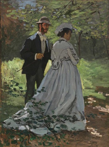 Bazille And Camille (Study For Dejeuner Sur L'herbe By Claude Monet